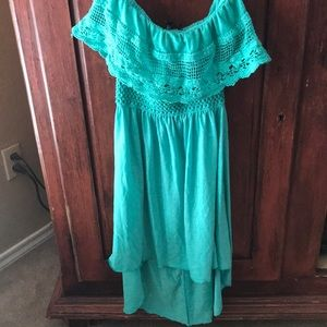 Dresses & Skirts - Size Large strapless aqua dress